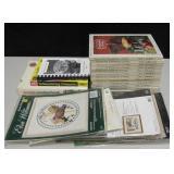 Lot of Cookbooks, Cross Stitch Kits