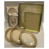 10 Pc Mid-Century Frames, Double Mat, Oval, Mix