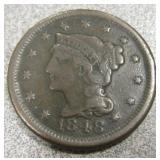 1848 Braided Hair USA Large Cent