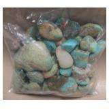 Bag Of Raw Turquoise - 224 grams