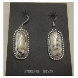 Navajo Sterling & Stone Earrings - Etta Endito