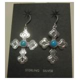 Navajo Sterling & Turq. Earrings - Ray Tafoya