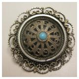 Vintage Sterling Silver Brooch - Hallmarked