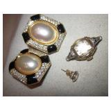 Bulova Watch, Christian Dior Earrings, 14K Earring