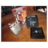 Snoopy Metal Bank, NIP Hepburn Puzzle & Ornament