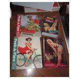 4 Pin-Up Girls Paperback Books