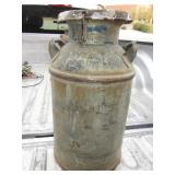 "24"" Tall Vintage Metal Milk Can With Lid"