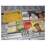 Baseball Book Lot w/ 2 1967 Laughlin BB Cards