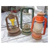 3 Vtg / Antique Lanterns - Dietz, Little Giant etc