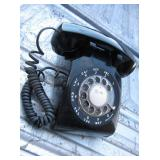 Vtg Bell System 500DM Black Rotary Telephone