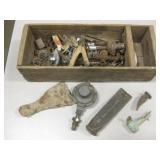 Vintage Wood Box w/ Asst