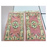 "35"" x 20"" Pair Of Rugs - Some Wear"