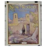 1932 New Mexico Magazine Cover Poster - Circa 1978