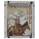1934 New Mexico Magazine Cover Poster - Circa 1978