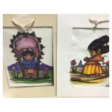 2 Matted Native Children Style Prints