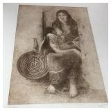 "Purcell Signed & Numbered Etching 15.5"" x 22"""