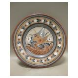 Hand Painted Decorative Ceramic Plate - 9.75""
