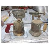 2 Vtg Brass Torches - Turner & Unmarked