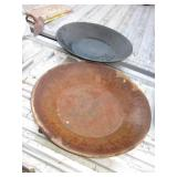 "2 Vintage Metal 14"" Gold Prospecting Pans"