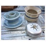 Vtg Ceramic Cuspidor, Insulator & More