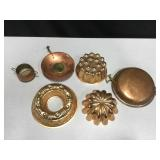 Copper-Washed Jello Molds & Other Metal Decor