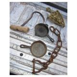 Vintage Cast Iron & Brass Lot
