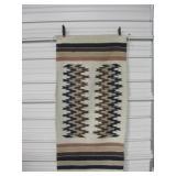 "27"" x 56.5"" Woven Wool Southwestern Rug"