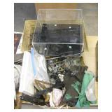 Misc Lot - Metal Planter, Flatware Sleeves, etc...