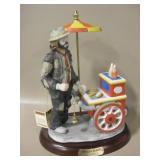 """12"""" Emmet Kelly Wheeler Dealer Porcelain Statue"""