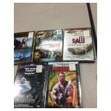 Lot of 5 sealed Dvds new old Stock Predator etc..