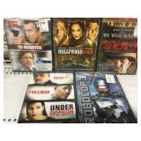 Lot of 5 sealed Dvds new old Stock Action movies