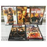 Lot of 5 sealed Dvds new old Stock Swat Etc..