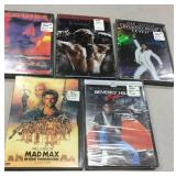 Lot of 5 sealed Dvds new old Stock Mad Max