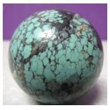 """Spotted Turquoise Stone Ball 1"""""""