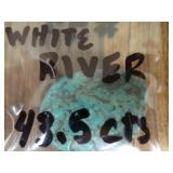 White River Mine Turquoise Cabochon 43.5Cts