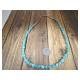 Sterling & Natural Turquoise Necklace
