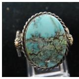 Vtg Navajo Sterling & Turquoise Ring