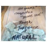 100 Grams Campitos Blue Ice Turquoise
