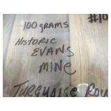 100 Grams Historic Evans Mine Turquoise
