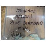 100 Grams Natural Blue Diamond Turquoise