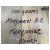 100 Grams Natural Kingman Turquoise