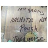 100 Grams Natural Hachita Mine Turquoise