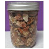 Mason Pint Jar Of Raw Mexican Opal #2