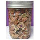 Mason Pint Jar Of Raw Mexican Opal #3
