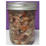 Mason Pint Jar Of Raw Mexican Opal #4