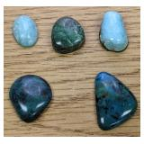 58.9Cts Of Turquoise Cabochons