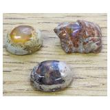 17.6Cts Polished Mexican Opal Cabs & Frog