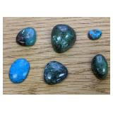 59Cts Of Turquoise Cabochons 1 Broke
