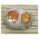 5.3Ct Mexican Red/Orange Polished Opal Cabochon
