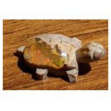 14Ct Mexican Polished Opal Turtle Fetish